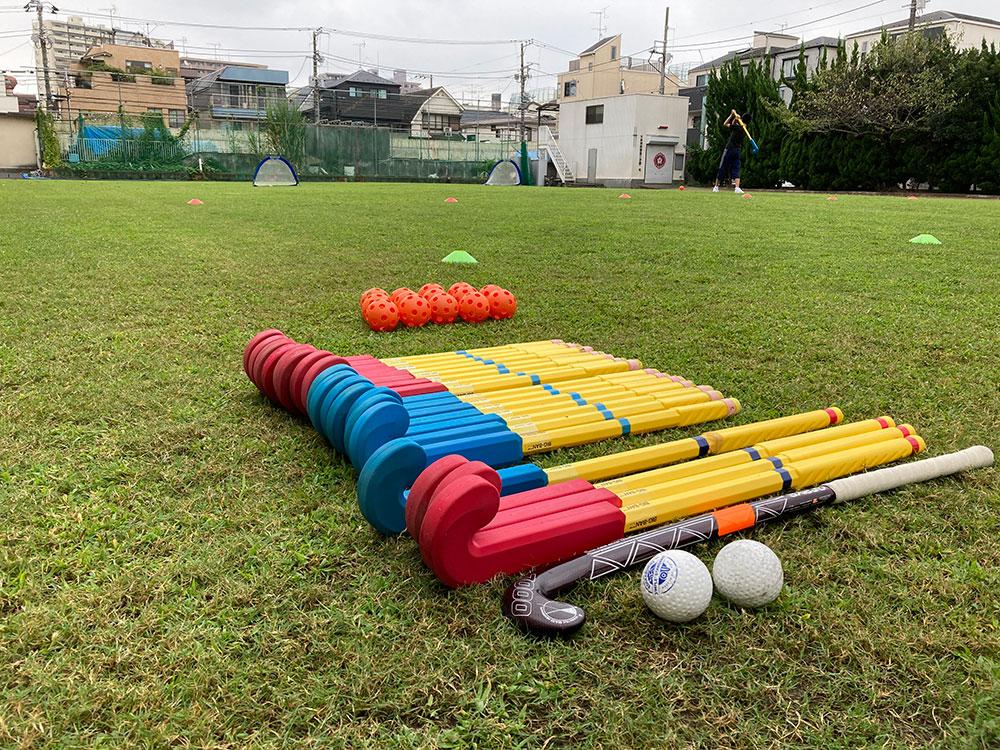 天然芝で楽しくホッケー教室/もりもりスポーツキッズ(大田区)